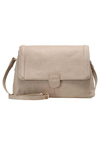 eea3dd0d295d3 Anna Field Umhängetasche in Taupe für Damen - Handtasche aus Lederimitat  31x8x24 cm
