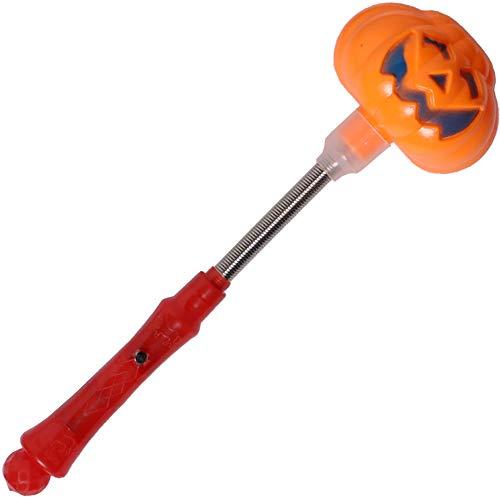Domire 1 Pc Halloween Rocking-Stick Nachleuchtenden Stick Glänzender Kürbis Schädel Verziert Party-Tanz-Verein-Konzert Zubehör Props Partyangebot (Kürbis)