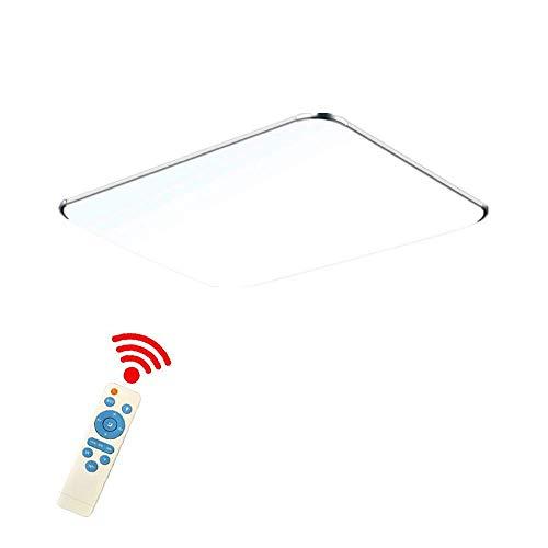 128W LED Deckenleuchte mit Fernbedienung Dimmbar - Modern Ultraslim led panel deckenlampe - Küche Wohnzimmer Schlafzimmer Wandlampe (128W Dimmbar)