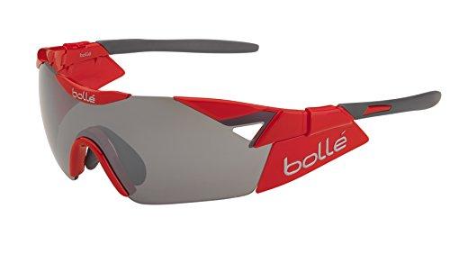 bollé Sonnenbrille Herren 6th Sense S bunt Shiny Red TNS Gun Oleo AF Taille M/L