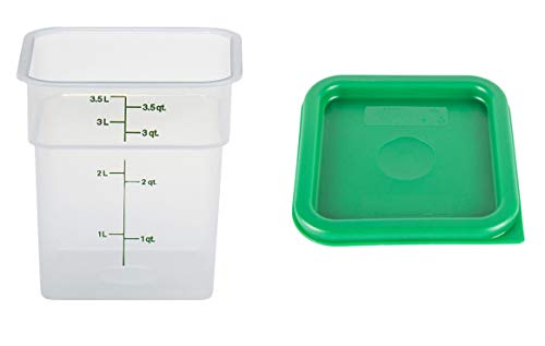 Cambro camsquare Lebensmittel Container mit Deckel: Set 3, 4Quart Container Camsquare Container