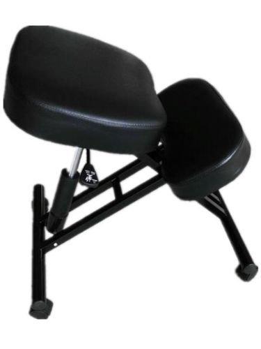 SZFMMY  in Ginocchio Ortopedico ergonomico Posture Cornice Ufficio di Sgabello Sedia Sedile Sanitari Senza Problemi della Schiena Aiuta (Tutto Nero)
