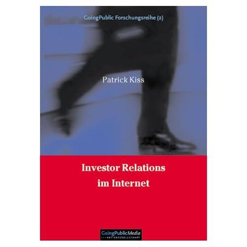 Investor Relations im Internet (Livre en allemand)