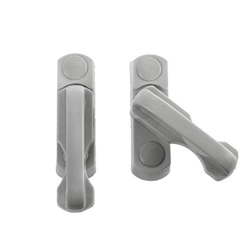 KOBERT GOODS -4 x Fenstersicherung (1-flügelig) - Sicherung für Fenster, Balkon- und Terrassentüren aus Kunststoff ALS zusätzlicher Einbruchsschutz für Zuhause/Home-Security