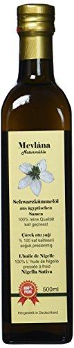 Mevlana Naturmühle ägyptisches Schwarzkümmelöl, gefiltert, kalt gepresst, 1er Pack ( 1x 500ml)