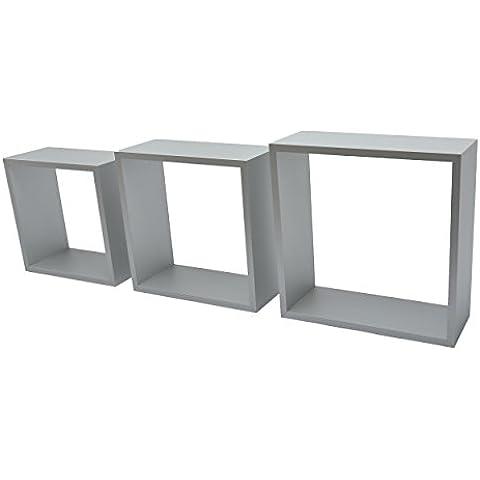 Duraline Tres Cubos de estantería, aluminio, 27x 27x 10/24x 24x 10/21x 21x 10cm, 3unidades)