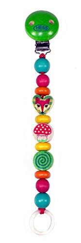Hess 13712 - bambino giocattolo in legno, clip, catena, ciuccio, forest animals