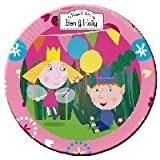 Ben and Holly Party Plates (Small - 8 Pack) 18cm NEW DESIGN by Ben & Holly