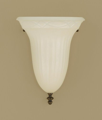 Livex Lighting S272 Bell Clip Chandelier Shade with Fancy Trim, Cream Floral Print by Livex Lighting -
