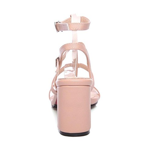 Coolcept Femmes Mode Talon Bloc Sandales Pink-Pu