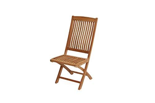 Ploß Klappstuhl ohne Lehne Arlington - Premium Teakholz-Stuhl mit FSC-Zertifikat - Terrassenstuhl...