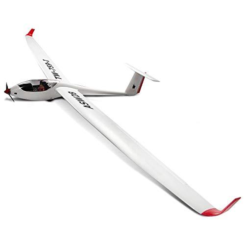 COSTWAY 2,4 G 6-Kanal PNP Segelflugmodell, Ferngesteuertes Modellflugzeug, Motorsegler aus EPO, Elektro Flugzeug Outdoor, Segelflugzeug weiß, Freiflugmodell Spannweite 260 cm