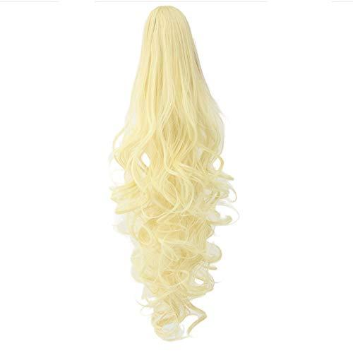 Kostüm Dunkle Klaue - ☀JiaMeng Perücke Klammer Gewellt Pferdeschwanz Zopf Haarverlängerung Haarteil Womens Girls Lange Locken Wellenförmige Perücken Klaue Clip Perrücke Wig Haare Wigs