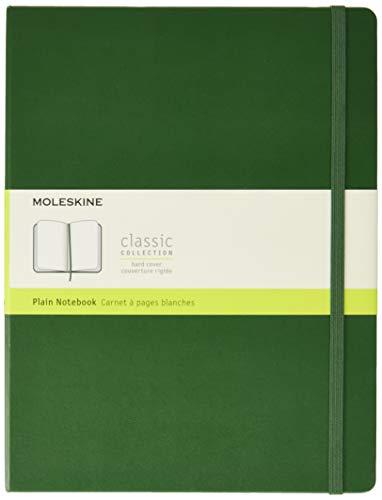 Moleskine Klassisches Blanko Notizbuch (Hardcover mit Elastischem Verschlussband, Größe A4 19 x 25, 192 Seiten) myrte grün