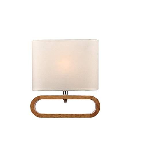 Massivholz-Schreibtischlampe Im Japanischen Stil, Leselampe Aus Holz Am Bett, Niedliche Ovale Beleuchtungstischlampe, Schreibtischlampe Zum Lernen Im Büro, Holzfarbe - Stil-holz-bett