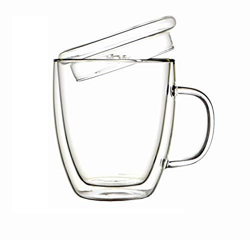 Doppelschichtglas Durchsichtiges Borosilikatglas Kaffee, Tee, Bierhitzebeständige Tasse
