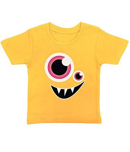 Artdiktat Baby T-Shirt | Happy Niedliche Monster Cartoon Motiv | D276 D276 | Size 1, gelb