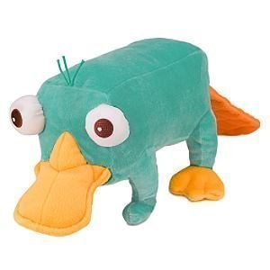 24 Inch Perry Plush Toy - Jumbo Size Phineas and Ferb Plush Doll by Disney