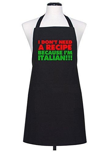 No necesito una receta porque I  m italiano de broma para Chef delantal  babero.   e31aa8c25943