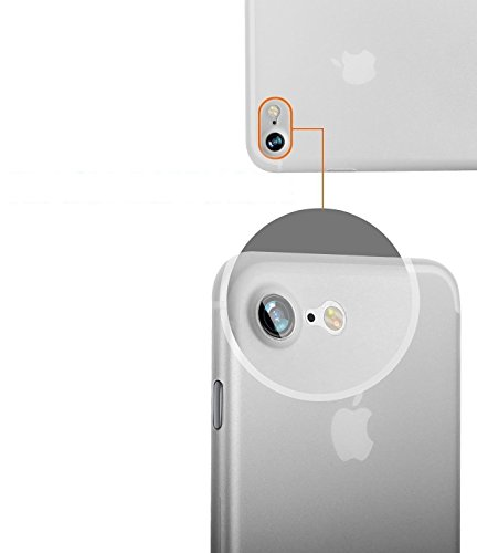 iPhone 7 (4,7 Zoll) weiße Hülle PP Ultra dünn Slim Case Schutzhülle Silikon Case Ultradünn Durchsichtig Transparent Matt weiß Bluecase weiß