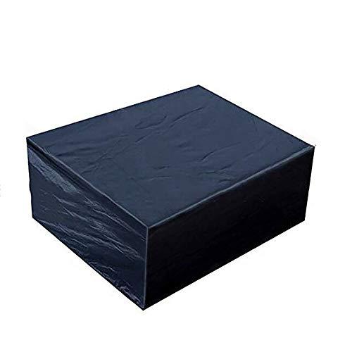 AY-cover Staubschutzhaube Staubschutz Für Gartenmöbel Wasserdicht Sonnenschutz, Terrasse Sofabezug Für Tisch Und Stuhl Schutzhülle, Anpassbare Größe (Color : Black, Size : 242 * 162 * 100cm)
