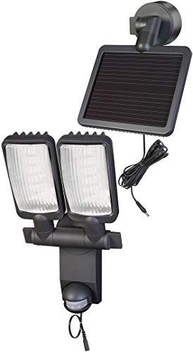 Brennenstuhl LED-Strahler Duo Premium LV / LED-Leuchte für außen mit Bewegungsmelder (IP44, inkl. Solar-Panel und Akku, 12 x 0,5 W) Farbe: anthrazit