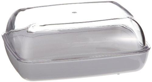 Emsa 505261 Butterdose, Kunststoff, 13.5 x 10 x 6 cm, Transparent/Weiß, Vienna (Dekorative Glas-schüssel)