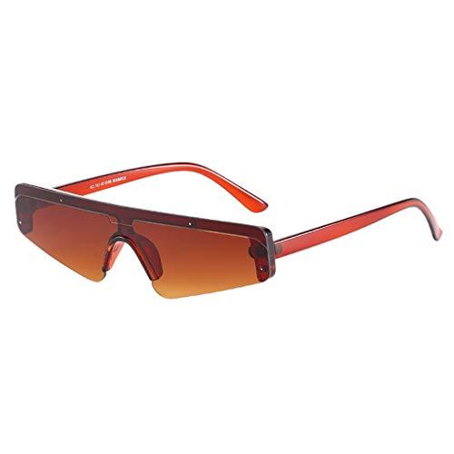 iYmitz Unisex Jahrgang Sonnenbrille, Auge Sonnenbrillen Retro Brillen Mode Strahlenschutz Sonnenbrillen Brillenträger Brille(Braun,Free Size)