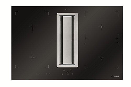 Preisvergleich Produktbild SILVERLINE FLIK 854 ES Flow-In Intern Premium Induktions-Kochfeld mit Kochfeldabzug/Dunstabzugshaube / Tischhaube / 78 cm/A