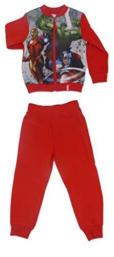 Marvel -  tuta da ginnastica - ragazzo rosso 4 anni
