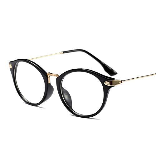 WULE-RYP Polarisierte Sonnenbrille mit UV-Schutz Herren- und Damenmode Brillengestell Student Nerd Brille mit klarer Linse Superleichtes Rahmen-Fischen, das Golf fährt (Farbe : Bright Black)