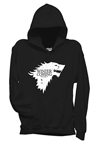 Felpa WINTER IS COMING - GAME OF THRONES - FILM by MUSH Dress Your Style - Uomo-L-NERA