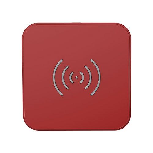 Wireless Charger, CHOETECH [Qi-zertifiziert] QI Wireless Ladegerät für iPhone X, iPhone 8/8 Plus, Galaxy S9/S9 Plus/S8/S8 Plus, Note 8, S7/S7 Edge, S6 Edge+/S6/S6 Edge und alle Qi-fähige Geräte(Rot)