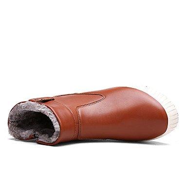 AIURBAG Da uomo-Stivaletti-Casual-Comoda-Piatto-PU (Poliuretano)-Nero Blu Marrone dark brown