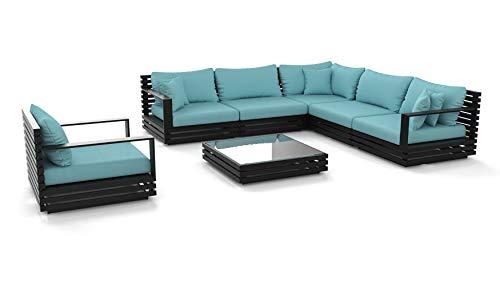 ARTELIA RN-1 Loungemöbel Set - Aluminium Premium Gartenmöbel Set für Terrasse, Garten und Wintergarten, Loungegruppe, Terrassenmöbel Anthrazit