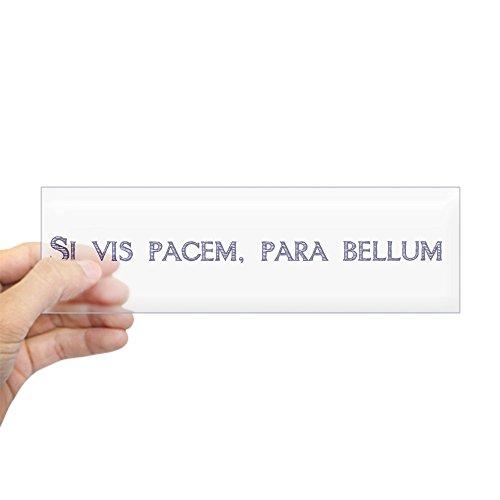 (CafePress SI Vis Pacem, Para Bellum (Latin) Bumper Aufkleber–25,4x 7,6cm Rechteck Bumper Aufkleber Auto Aufkleber Standard Farblos)