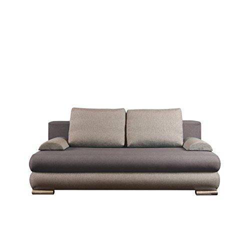 Schlafsofa Metz Schlaffunktion, Design Funktionssofa, mit Bettkasten, Modernes Couch, Schlafcouch Schlafsofa Bettsofa (Lux 05 + Lux 06)