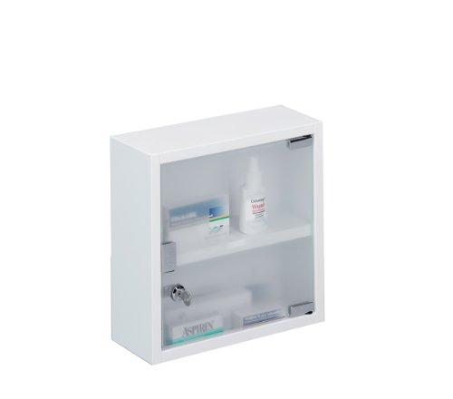 zeller-18121-armoire-pharmacie-mtal-blanc-30-x-12-x-30cm