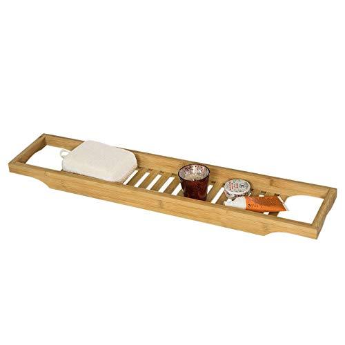 SoBuy® Badewannenablage aus hochwertigem Bambus