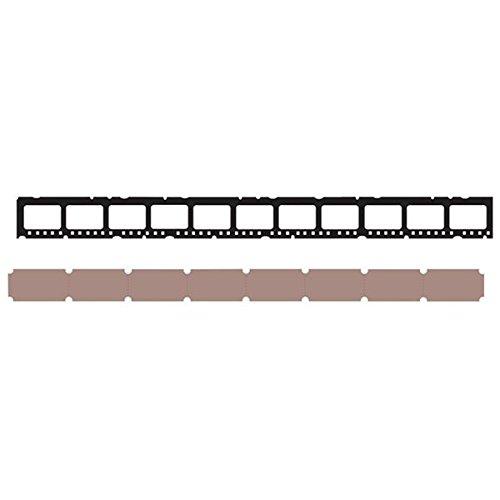 Tim Holtz - Fustella per strisce decorative Sizzix Sizzlits, motivo mini pellicola e mini biglietti