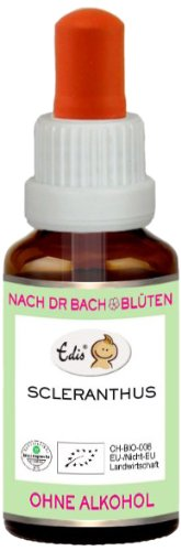 Sunasar Edis Scleranthus alkoholfrei 15ml (Bio Bachblüten), 1er Pack (1 x 15 ml)