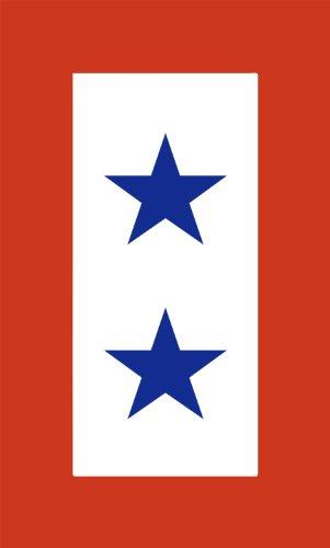 INDIGOS UG Aufkleber Autoaufkleber JDM Die Hart - Military Service 2 Star Flag Bumper Sticker Fallen Soldier Car 101mmX152mm (Star Service Flag)
