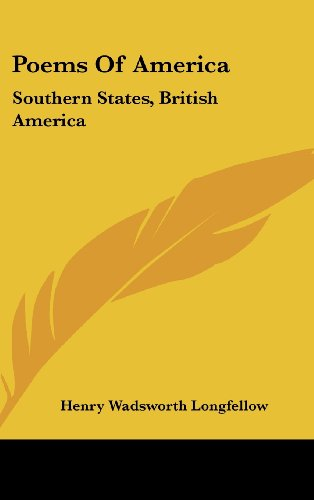 Poems of America: Southern States, British America