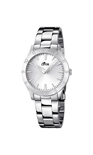 Lotus Women's Quartz Watch with Silver Dial Analogue Display and Silver Stainless Steel Bracelet 18138/1
