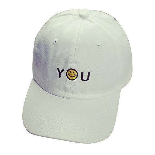 YCQUE Frauen MäNner Casual Einfache Outdoor Brief Stickerei Baumwolle LäCheln Solide BaseballmüTze Unisex Snapback Hip Hop Sonnenhut SchirmmüTzen SonnenhüTe