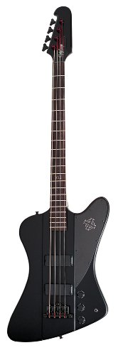 Epiphone EBTBPBBH1 Goth Les Paul Studio E-Bass Pitch Black - Leichter Goth