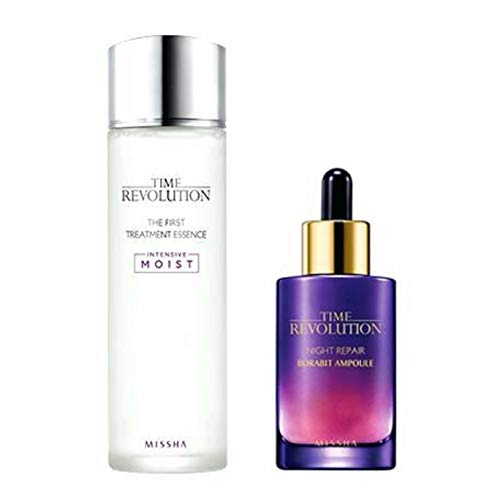 2 Intensive Repair-behandlung (Missha Time Revolution the First Treatment Essence 150ml + Night Repair Serum 1.7oz by MISSHA)