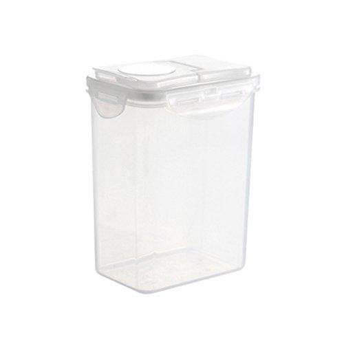 NACOLA Müsli-Behälter luftdichter Aufbewahrungsbox aus Kunststoff mit Keeper für Getreide, Müsli Haferflocken-Samen, 1.8 L (Samen Keeper)