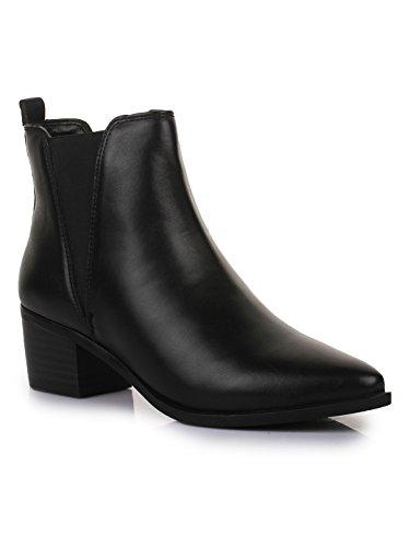Bruno Manetti Women Black(AY-108) Synthetic Leathe...