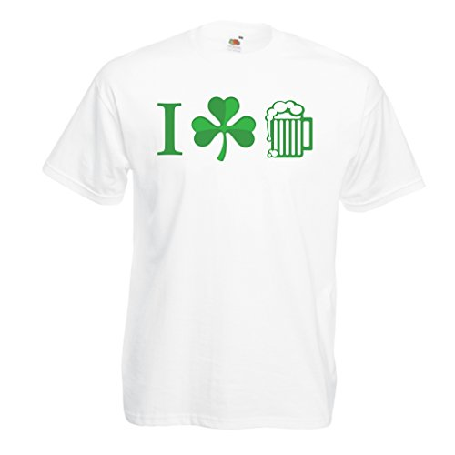 Männer T-Shirt The Symbols of St. Patrick's Day - Irish Icons (Medium Weiß (Dance Kostüme Country Girl)